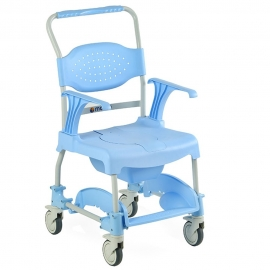 Sedia wc | Comoda | Seduta e coperchio | Resistente e leggera | Celeste
