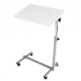 Tavolino pieghevole a rotelle | Per letto o divano | Resistente | Multiuso | Grigio perla
