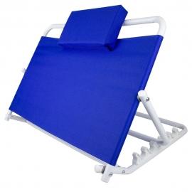 Schienale letto | Supporto schiena | Regolabile | Da 45º a 60º | Cuscino poggiatesta | Blu | Mobiclinic