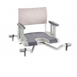 Sedia girevole da bagno | Sedia per vasca da bagno con schienale e braccioli | Sorrento | Aquatec