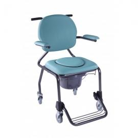 Sedia WC | Sedia doccia | WC | Braccioli imbottiti | Sedile imbottito | Blu | 130 Kg