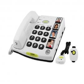 Telefono per anziani | Cordless | Con tastiera grande | Chiamata rapida per emergenze | Secure 347 | Doro