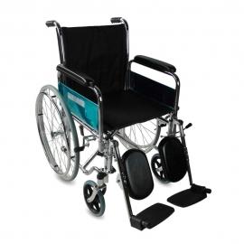 Sedia a rotelle | Pieghevole | Braccioli e poggiapiedi estraibili | Acciao | Nero | Partenón | Mobiclinic