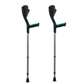 Stampelle | Bastoni canadesi | Impugnature ergonomiche | Pack: 2 unità | Nero e verde | Advance