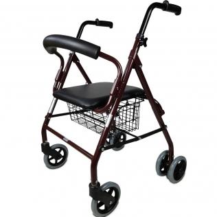 Carrello per anziano   Sedile e supporto   Alluminio   Cesta   Per anziani   Prado   Mobiclinic