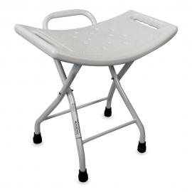 Sgabello doccia | Sgabello bagno pieghevole | Antiscivolo | Bianco | Plaza | Mobiclinic