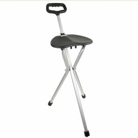 Bastone treppiedi con seduta | Pieghevole | In alluminio