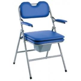 Sedia pieghevole | WC | Seduta e schienale imbottiti | Blu | Omega di Invacare H407