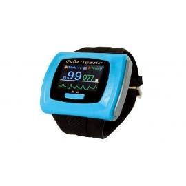 Pulsossimetro | Ossimetro da polso | Elettromedicali | Orologio | SpO2 | Azzurro | Mobiclinic