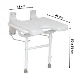 Sedile da parete | Ribaltabile | Con gambe | Forma a ferro di cavallo