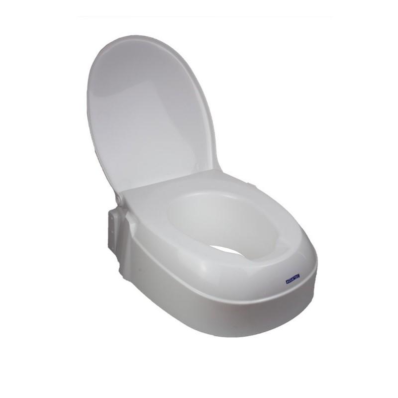 Alzawater Alzawater Per Disabili Rialzo Wc Con Coperchio Regolabile In Altezza Bianco