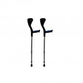 Stampelle | Bastoni canadesi | Alluminio | Impugnatura ergonomica | Nero e blu | Pack: 2 unità | Advance