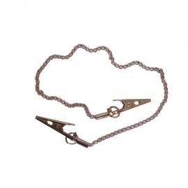 Catenella in metallo | Catenina reggitovaglioli/bavaglini | 35 cm
