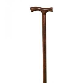 Bastone in faggio | Bastone da passeggio in faggio | Impugnatura a T | Elegante e di alta qualità | 93 cm