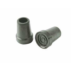 Puntale antiscivolo   Per bastone, stampella   Gomma   Grigio   19 mm