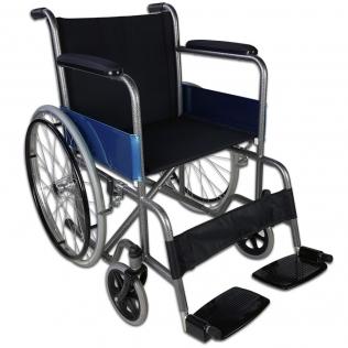 Sedia a rotelle | Pieghevole | Ruote grandi | Ortopedica | Leggera | Acciaio | Nero | Alcázar | Mobiclinic