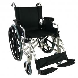 Sedia a rotelle | Alluminio | Ausili per disabili | Poggiapiedi estraibili | Pieghevole | Nero | Ópera | Mobiclinic
