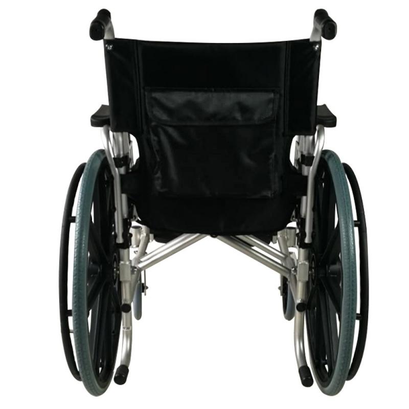 Sedia A Rotelle Alluminio Ausili Per Disabili Poggiapiedi Estraibili Pieghevole Nero Opera