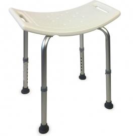 Sgabello doccia | Accessori bagno | Regolabile in altezza | Seduta extra-comoda| Gommini antiscivolo | San Fermín | Mobiclinic