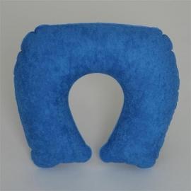 Cuscino cervicale da viaggio gonfiabile ondulato blu con borsa OX