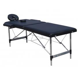 Lettino per massaggi pieghevole   Poggiatesta   Portatile   Alluminio   186x60 cm   Nero   CA-01 Light   Mobiclinic