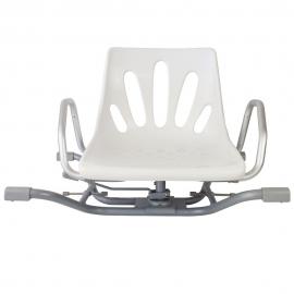 Sedia per doccia | Sgabello per doccia | Seggiolino doccia | Girevole | Con schienale | Con braccioli | Bianco