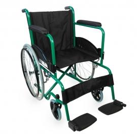 Sedia a rotelle | Disabili | Pieghevole | Acciaio | Verde | Alcazaba | Mobiclinic