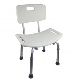 Sedia per doccia | Regolabile in altezza | Schienale | Gommini antiscivolo | Bianco | Olivo | Mobiclinic