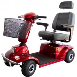 Scooter elettrico per disabili | 4 ruote | Premium | Premium | Sicurezza | Auton. 30 km | 12V | Bordeaux | Bilancia | Mobiclinic