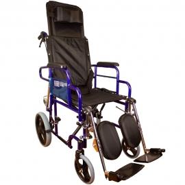 Sedia a rotelle | Pieghevole | Schienale reclinabile | Freni a pressione | Nero | Sfinge | Mobiclinic