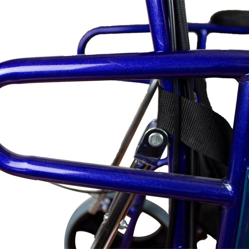 Sedia a rotelle | Pieghevole | Schienale reclinabile ...
