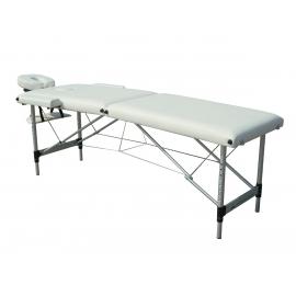 Lettino per fisioterapia pieghevole   Poggiatesta   Portatile   Alluminio   186x60 cm   Crema   CA-01 Light   Mobiclinic