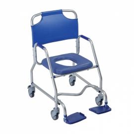 Sedia per doccia | Sedia wc | Sedia da bagno | Con ruote | Alluminio | Obana