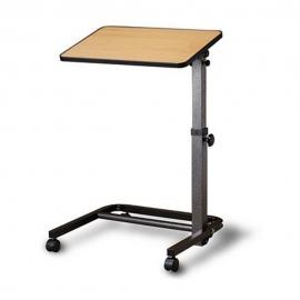 Tavolo a rotelle regolabile in altezza | Tavolino pieghevole pazienti allettati | Base color legno | Apex