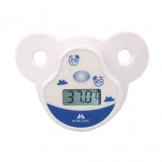 Termometro digitale | A ciuccio | Infantile | Ciuccio morbido | Schermo LCD | Mobiclinic
