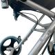 Sedia a rotelle di transito | Pieghevole | Alluminio | Ruote piccole | Freni su leve | Nero | Nettuno | Mobiclinic - Foto 9