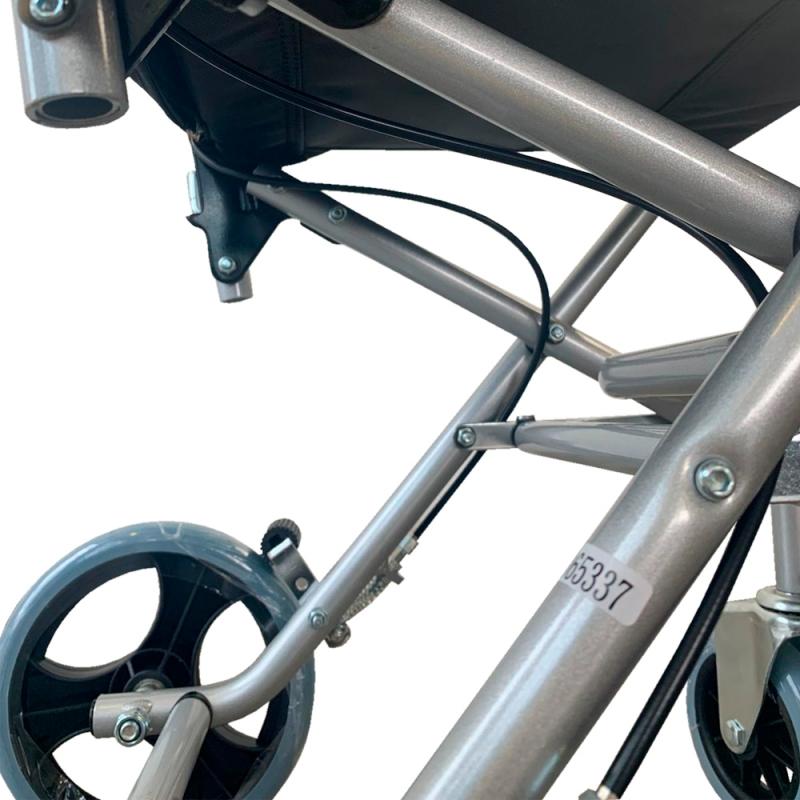 Sedia a rotelle di transito | Pieghevole | Alluminio ...
