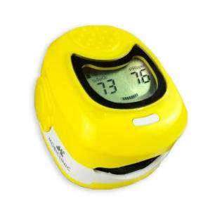 Saturimetro pediatrico | Pulsossimetro | Schermo LCD | Frequenza cardiaca | Grafico a barre | Giallo | PX-03 | Mobiclinic