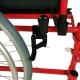 Carrozzina | Poggiapiedi estraibili | Alluminio | Pieghevole | Rosso | Torre | Mobiclinic - Foto 4