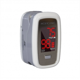 Pulsiossimetro da dito| Schermo OLED | Frequenza cardiaca e grafico a barre| PX-02 | Mobiclinic