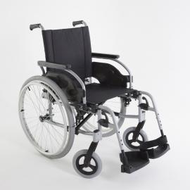 Sedia a rotelle   Carrozina per disabili   Pieghevole   Ortopedica   Ruote compatte   Grigia   Action1R24