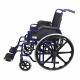 Sedia a rotelle | PREMIUM | Pieghevole | Acciaio | Nera e Blu | Giralda | Mobiclinic - Foto 3