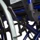 Sedia a rotelle | PREMIUM | Pieghevole | Acciaio | Nera e Blu | Giralda | Mobiclinic - Foto 7