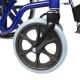 Sedia a rotelle | PREMIUM | Pieghevole | Acciaio | Nera e Blu | Giralda | Mobiclinic - Foto 8