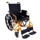 Sedia a rotelle PREMIUM | Carrozzina disabili | Braccioli e pedane sollevabili | Acciaio | Arancio | Giralda | Mobiclinic - Foto 1