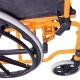 Sedia a rotelle PREMIUM | Carrozzina disabili | Braccioli e pedane sollevabili | Acciaio | Arancio | Giralda | Mobiclinic - Foto 4