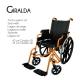 Sedia a rotelle PREMIUM | Carrozzina disabili | Braccioli e pedane sollevabili | Acciaio | Arancio | Giralda | Mobiclinic - Foto 7