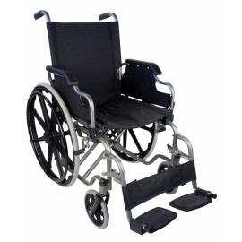 Sedia a rotelle PREMIUM | Carrozzina disabili | Braccioli e pedane sollevabili | Acciaio | Nero | Giralda | Mobiclinic