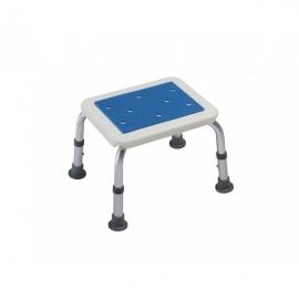 Sgabello da bagno | Alluminio e acciaio | Senza schienale | Antiscivolo | Imbottito | Rettangolare