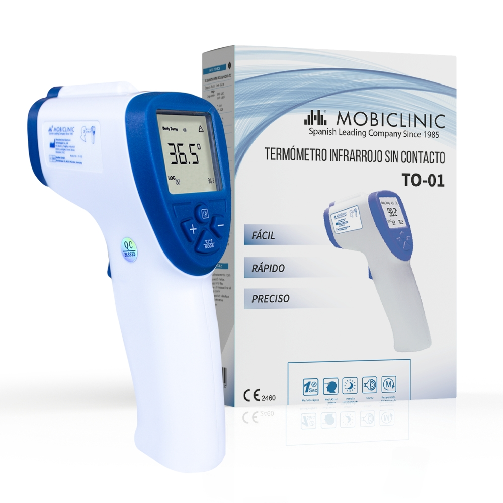 Termometro Digitale Infrarossi HG01-1 Senza Contatto Misuratore di Temperatura con Retroilluminazione Senza Batteria Commutabile Tra /°C e /°F